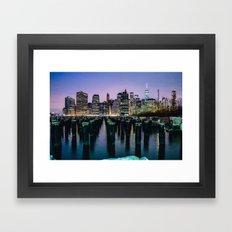 Brooklyn Piers At Sunset Framed Art Print
