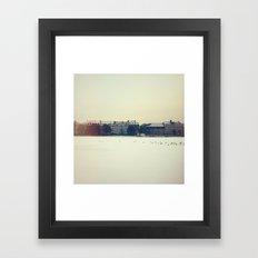 Frozen Lakes, Copenhagen Framed Art Print