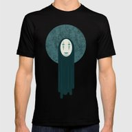 Spirited Away, No Face  Mens Fitted Tee Black SMALL