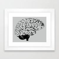 Braaains Framed Art Print