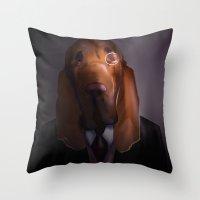 Good-Night, Sir Hound Throw Pillow