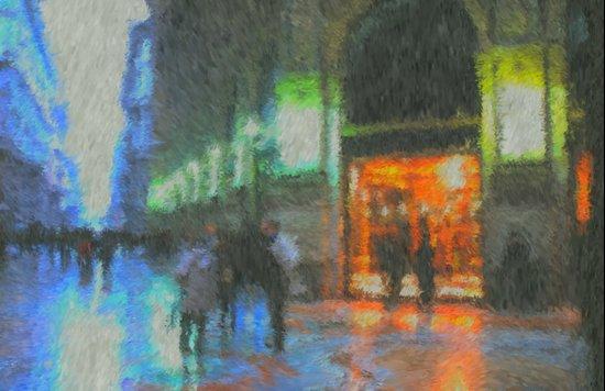 Streets of Milan Art Print