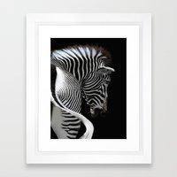african stripes Framed Art Print