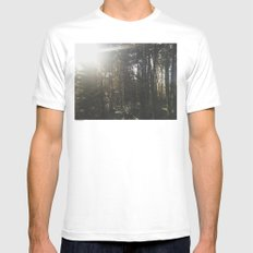 Of light & trees Mens Fitted Tee White SMALL