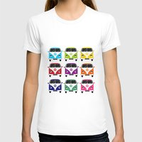 vw T-shirts featuring VW Campervan by chauloom