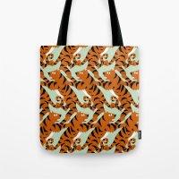 Tiger Conga pattern Tote Bag