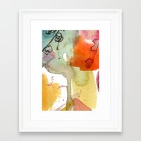 Watercolour Floral Abstr… Framed Art Print