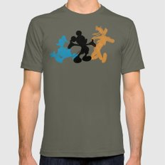 DISNEY MICKEY MOUSE: THE… Mens Fitted Tee Lieutenant SMALL