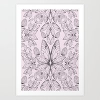Rose Quartz Insect Wings Art Print