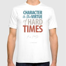 De Gaulle on Difficulties and Hard Times - Poster Illustration for inspiration and motivation SMALL Mens Fitted Tee White