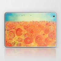 Sunflower Field -- Abstr… Laptop & iPad Skin