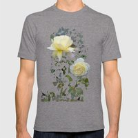 Roses on a string Mens Fitted Tee Tri-Grey SMALL