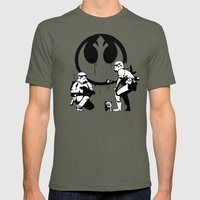 Banksy Troopers Mens Fitted Tee Lieutenant SMALL