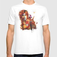 Lara Croft Mens Fitted Tee White SMALL