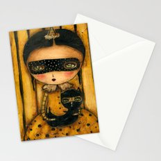 The Halloween Witch And The Black Cat Stationery Cards