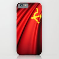 iPhone & iPod Case featuring Flag of Soviet Union (1922-1991) by Lulla