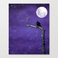 Moonlit Winter Sky Canvas Print
