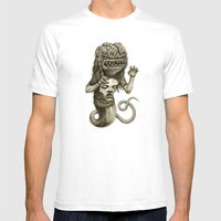 Demon Mens Fitted Tee White SMALL