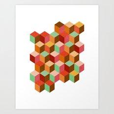 cubes, cubes and more cubes Art Print