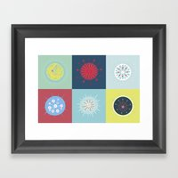 Radiolarian Composition Framed Art Print