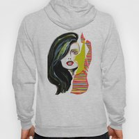 Fashion face woman portrait Hoody