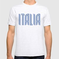Italia/Italy Mens Fitted Tee Ash Grey SMALL