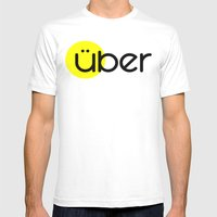 Über Mens Fitted Tee White SMALL