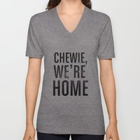 Chewie,We're Home - Galactic Unisex V-Neck