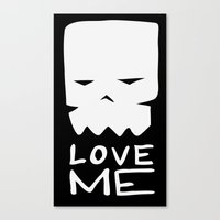 Inverted LOVE ME Canvas Print