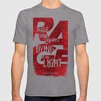 Rage Against the Dying of the Light 1 Mens Fitted Tee Tri-Grey SMALL