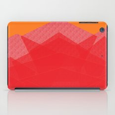 Colorful Red Abstract Mountain iPad Case