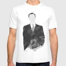 Mycroft White Mens Fitted Tee SMALL