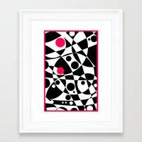 Its Not Just Black or White Framed Art Print