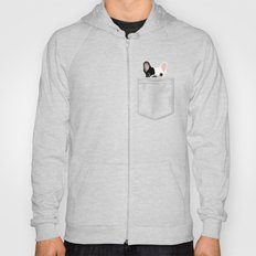 Pocket French Bulldog - Pied Hoody