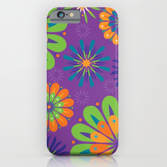 Psychoflower Purple iPhone & iPod Case