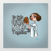 Stick Together Canvas Print