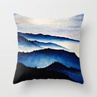 Mountain Landscape. Throw Pillow