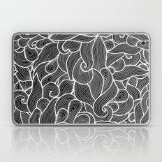 Black and white waves  Laptop & iPad Skin