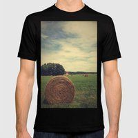 Summer Field of Dreams Mens Fitted Tee Black SMALL