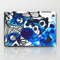 Paint 5 abstract minimal modern painting trendy bold painterly dorm college urban apartment decor iPad Case