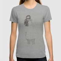 No.6 Fashion Illustration Series Womens Fitted Tee Athletic Grey SMALL
