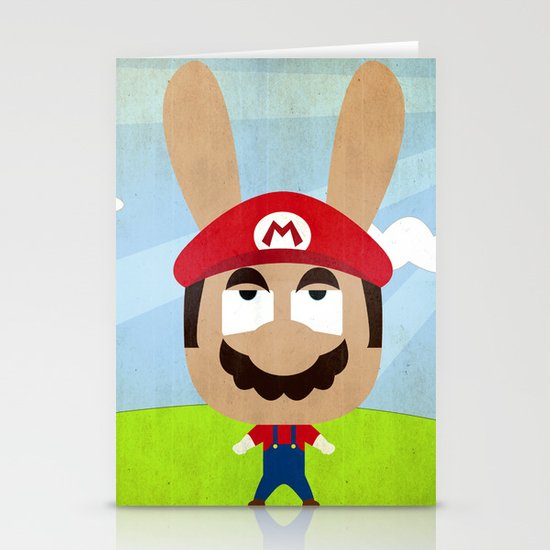 We are all rabbits \ Mario Stationery Card