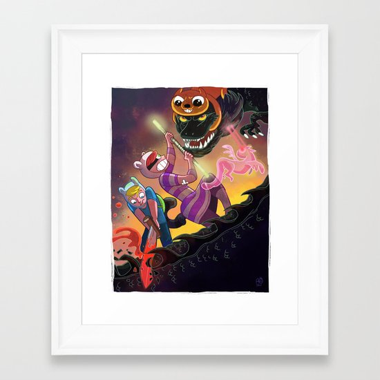Epic Fan Art Battle Framed Art Print