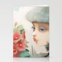 Pensees Et Roses Tremier… Stationery Cards