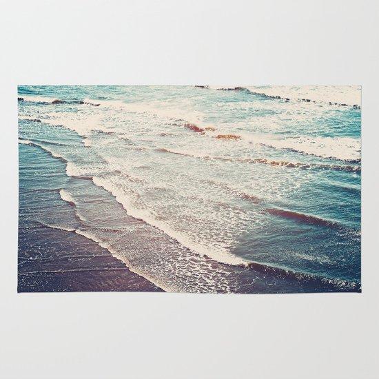 Ocean Waves Retro Area & Throw Rug