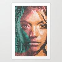 the S girl Art Print