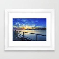 Smooth river. Framed Art Print