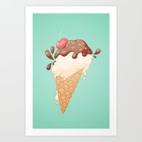 Summer Icecream Art Print