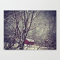 Out Behind The Barn  Canvas Print