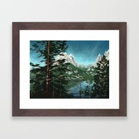 Tetons Across Jenny Lake Framed Art Print